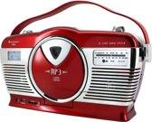 Soundmaster RCD1350RO (rot) - Retro Kofferradio mit vertikal CD-Spieler