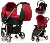 4Baby - Atomic Kinderwagen incl. Autostoel - Red