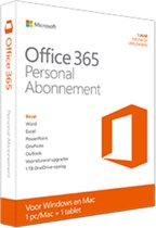 Office 365 Personal 32-bit/x64 English Subscr 1YR Eurozone Medialess
