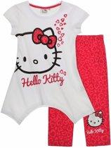 Hello Kitty T-shirt met Legging - Fuchsia - Maat 116