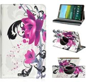 Samsung  Galaxy tab 4 8 inch (T330) Tablet Beschermhoes 360° draaibare Case Cover Rose Flower