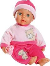 Bayer Pop My Little Smile Baby met 9 Functies - 38 cm - Roze