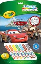 Crayola Kleuren op Nummer - Cars Kleurboek met 7 Stiften