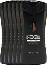 Axe africa  - 250 ml - shower gel - 6 st - voordeelverpakking