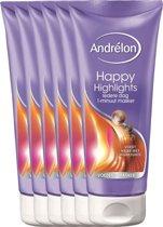 Andrélon happy highlights  - 180ml - haarmasker - 6 st - voordeelverpakking