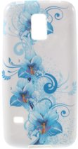 TPU Case Samsung Galaxy S5 Mini Blue Flowers