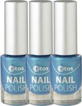 Etos Nailpolish 032 - Metal Sea - Blauw - 3 stuks - Nagellak