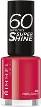 Rimmel London 60 seconds supershine nailpolish - 403 Coralicious - Nagellak