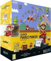 Nintendo Wii U 32GB Console Premium Bundel Zwart + Super Mario Maker + Artbook + Amiibo