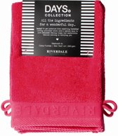 Riverdale Washandjes - Days - Fuchsia - Set van 4