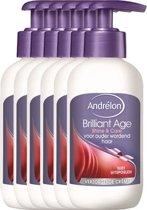 Andrélon brilliant age shine & care  - 200 ml - crème  - 6 st - voordeelverpakking