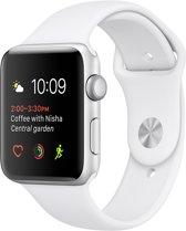Apple Watch Series 2 Smartwatch 42mm - Zilver Aluminium / Wit sportband
