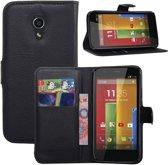Motorola Moto G 2nd Gen. 2014 Stand Case Zwart