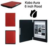 Slimfit cover voor Kobo Aura 6 inch rood beschermhoes / slimfit hoes / case