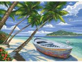 Schilderen op nummer - tropical beach