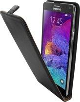 Hippo Case - Lederen Flip Case Samsung Galaxy Note 4 Black
