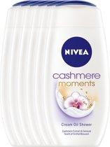 NIVEA Cashmere Moments - 250 ml - Douchegel - 6 st - Voordeelverpakking