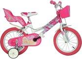 Dino Barbie - Kinderfiets - 16 inch - Meisjes - Wit
