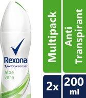 Rexona Women Fresh Aloe Vera - 200 ml - Deodorant - 2 stuks - Voordeelverpakking