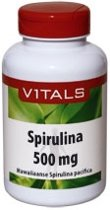 Vitals - Spirulina 500 mg - 180 tabletten - Voedingssupplement