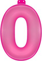 Opblaasbaar Cijfer 0 roze