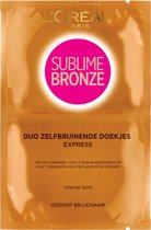 L'Oreal Paris Sublime Bronze - Doekjes 2 x 5.6ml - Zelfbruinende tissues