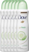 Dove Go Fresh Cucumber & Green Tea Women - 150 ml - Deodorant Spray - 6 stuks - Voordeelverpakking