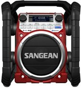 Sangean U-4 DBT - Draagbare bouw radio met DAB en Bluetooth  - Rood
