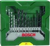 Bosch X-Line borenset - 15-delig - Voor hout, meta