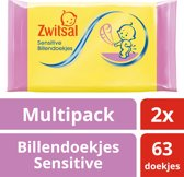 Zwitsal Sensitive Wipes - 2 x 63 stuks