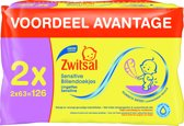 Zwitsal - Wipes Sensitive - 2x 63st