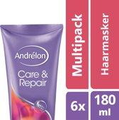 Andrélon care & repair  - 180 ml - 1-minuut masker - 6 st - voordeelverpakking