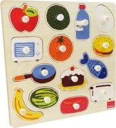 Goula Houten Knopjes Puzzel - 16 Stukjes