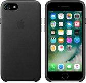 Apple iPhone 7 Lederen Hoes - Zwart