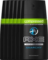 Axe anarchy for him Body Spray - 100 ml - deodorant - 6 st - voordeelverpakking