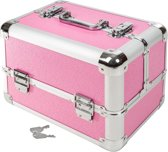Cosmetica koffer make-up beautycase hardcase roze 401069