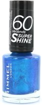Rimmel London 60 seconds supershine nailpolish - 520 Azure - Nagellak
