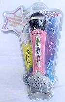 Mooie roze microfoon met licht en geluid