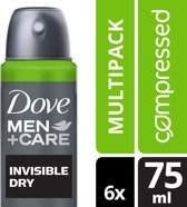 Dove Men+Care Invisible Dry - 75 ml - Deodorant Spray - 6 stuks - Voordeelverpakking