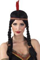 Pruik indiaan Annea met hoofdband