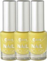 Etos Nailpolish 082 - Yellow Sugar - Suar - Geel - 3 stuks - Nagellak