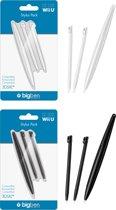 Bigben Stylus Pack Wii U + 3DS XL Zwart Wit