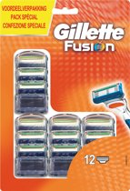 Gillette Fusion Manual - 12 stuks - Scheermesjes
