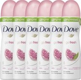Dove Go Fresh Pomegranate & Lemon Verbena Women - 75 ml - Deodorant Spray - 6 stuks - Voordeelverpakking
