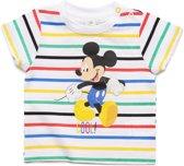 Mickey Mouse Jongens T-shirt - wit - Maat 24m/2 jaar