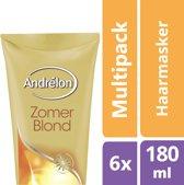Andrélon zomerblond  - 180ml - haarmasker - 6 st - voordeelverpakking