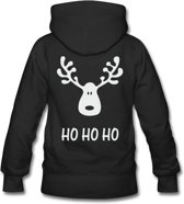 Hippe kersttrui Ho Ho Ho voor heren hooded sweater black