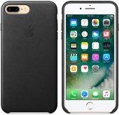 Apple iPhone 7 Plus Lederen Hoes - Zwart