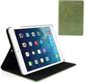 Crocodile Leather Stand Case Apple iPad Air Green