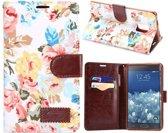 Samsung Galaxy Note Edge flip case, hoesje, cover Flowers